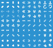 Arrows icon set, blue Stock Photos