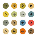 Arrows icon set Stock Photos