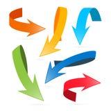 Arrows Icon Set Illustration Royalty Free Stock Photos
