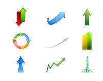 arrows icon set illustration design Royalty Free Stock Images