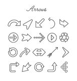 Arrows Icon Set Stock Photography