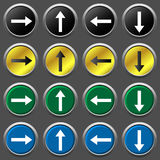 Arrows icon set Stock Images