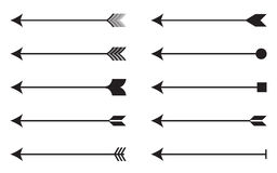 Arrows icon set. Vector illustration EPS 10 Royalty Free Stock Photo
