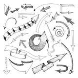 Arrows icon sketch royalty free illustration