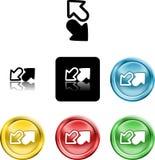 Arrows icon symbol Royalty Free Stock Photography
