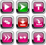 Arrows icons. Royalty Free Stock Images
