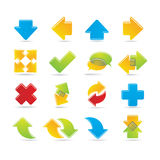 Arrows icons Stock Image