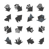 Arrows icons collection stock photos
