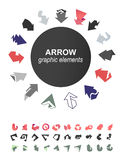 Arrows icons collection Stock Image