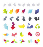 Arrows icons collection Royalty Free Stock Images