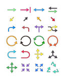 Arrows icons set Stock Photography