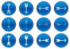 Arrows icons set. Stock Photo