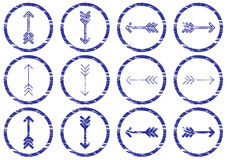 Arrows icons set. Royalty Free Stock Photo