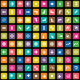 100 Arrows icons set Royalty Free Stock Photo