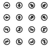 Arrows icons set Royalty Free Stock Images