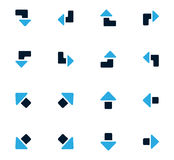 Arrows icons set Royalty Free Stock Photography