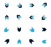 Arrows icons set Stock Image