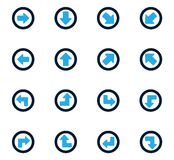 Arrows icons set Stock Images