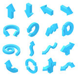 Arrows icons set in isometric 3d style Royalty Free Stock Image