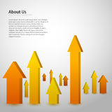Arrows illustration Stock Photography