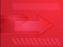 Arrows illustration. Forward moving arrows pointing right, design illustration Stock Image