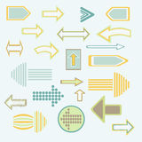 Arrows - Illustration. Set arrows illustrated in a graphic style Stock Photos