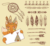 Arrows, Indian elements. Aztec borders and embellishments Stock Images