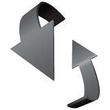 Arrows indicate rotation Royalty Free Stock Photography