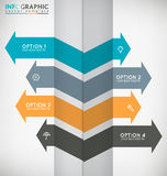 Arrows Infographic Royalty Free Stock Photography