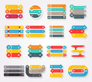 Arrows infographics elements, vector charts and diagrams Royalty Free Stock Image