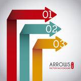 Arrows infographics Stock Photography