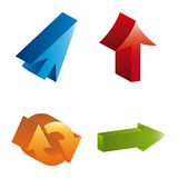 Arrows infographics Stock Images