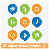 Arrows interface symbols set Stock Images