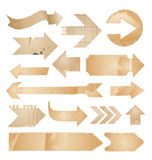 Arrows - isolated vintage paper collection Stock Images