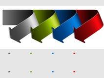 Arrows - items, menu, navigation Royalty Free Stock Photography