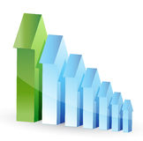 Arrows leader support graph Royalty Free Stock Image