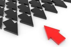 Arrows. Leadership concept. Stock Photo