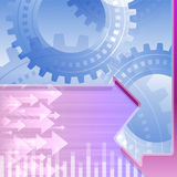 Arrows Left Right Gears Teamwork Background Blue Royalty Free Stock Photography