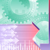 Arrows Left Right Gears Teamwork Background Green Royalty Free Stock Images