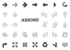 Arrows letter icon. Arrow  illustration icons set. Arrows letter icon. Arrow  illustration icons set Stock Images