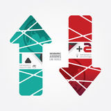 Arrows line world red and terqoice color / can be used for infog Stock Images