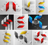 Arrows lines infographics set Stock Photography