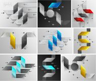 Arrows lines infographics set Royalty Free Stock Photo