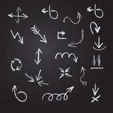 Arrows, lines, pointers  - hand drawn. Stock Images