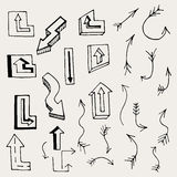 Arrows and Lines. Royalty Free Stock Images