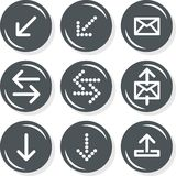 Arrows mail mailbox internet database web set Stock Photo