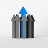 Arrows. Main blue and grey arrows Stock Photo