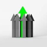 Arrows. Main green and grey arrows Royalty Free Stock Image