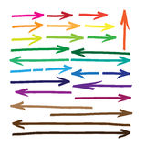 Arrows. Marker drawing series in Vector Format. Color can be cha Stock Image