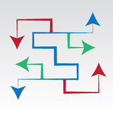 Arrows Maze All Directions Royalty Free Stock Photography